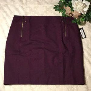 🆕NWT Worthington Zippered Purple Mini Skirt, 18